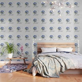 Breathe! Dandelion Floral Botanical Art Wallpaper