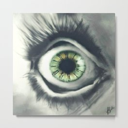 Time is in the Eye of the Beholder Metal Print