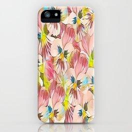 Abundance Of Pink Pansies iPhone Case