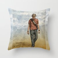 charlie Throw Pillows featuring Charlie by Jackie Sullivan