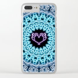 simetry heart 2 Clear iPhone Case
