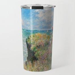 1882-Claude Monet-Cliff Walk at Pourville-66 x 82 Travel Mug