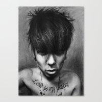rock n roll Canvas Prints featuring Rock N Roll by ''Befne''