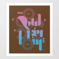 Quit Playin' (Color) Art Print