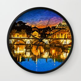 Rome and the Vatican City Wall Clock