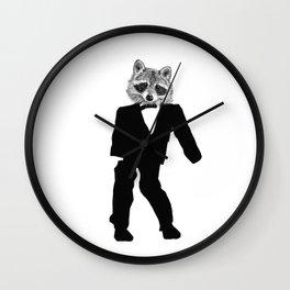 Twisted Raccoon Wall Clock