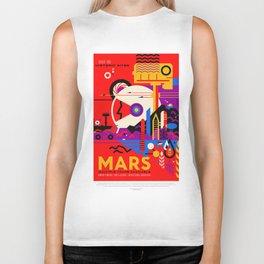 Mars - NASA Space Travel Poster (Alt) Biker Tank