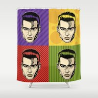 johnny depp Shower Curtains featuring Johnny Depop by Roberlan Borges