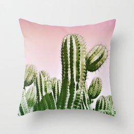 Love Summer Cactus Throw Pillow