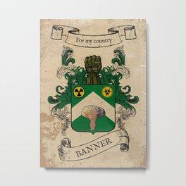 Banner Coat of Arms Metal Print