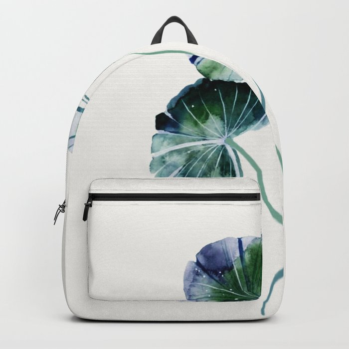 Water lily leaves Backpack