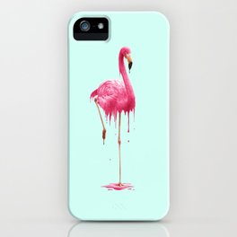MELTING FLAMINGO iPhone Case