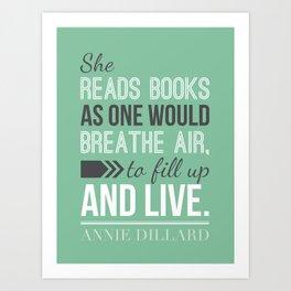 Annie Dillard - Typography Poster Art Print