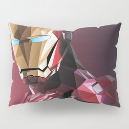 Iron Man low poly superheroes mosaic DC Comics IronMan Pillow Sham