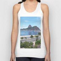 rio de janeiro Tank Tops featuring Rio de Janeiro Landscape by Fernando Macedo