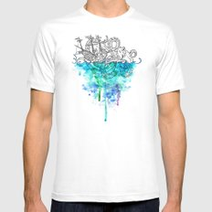 From the Deep, Deep Down. Mens Fitted Tee MEDIUM White