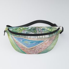 Blue Backyard Pool With Conch House In Key West FL Fanny Pack