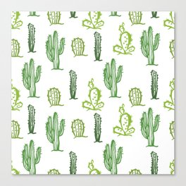 cactus stamp Canvas Print
