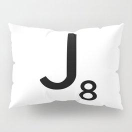 Letter J - Custom Scrabble Letter Tile Art - Scrabble J Pillow Sham