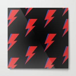 The Rock & Roll Lightning Bolt Metal Print