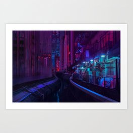 Tokyo Nights / Glitch City / Liam Wong Art Print