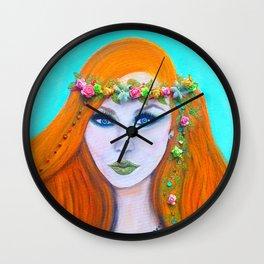 Redhead Poison Ivy Goddess Wall Clock