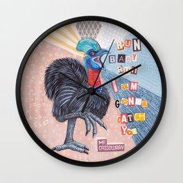 Mrs Cassowary Wall Clock