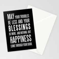 Irish Blessing..May your troubles be less Stationery Cards