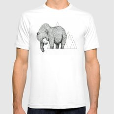 'Wildlife Analysis IV' White MEDIUM Mens Fitted Tee