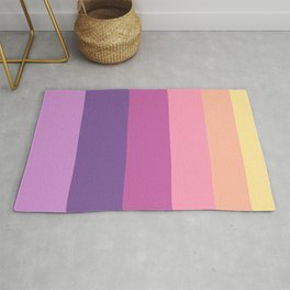Yellow & Purple Geometric Pattern Rug