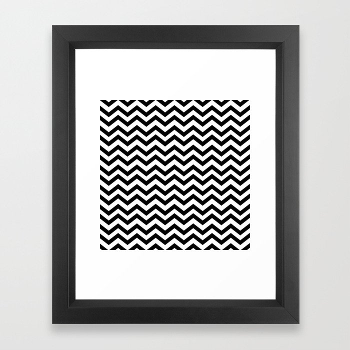 Keep calm and dream on zig zag chevron black lodge floor twin peaks framed art print by pieter society6
