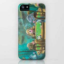 Pinnipeds Playing Poker iPhone Case