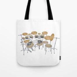 White Drum Kit Tote Bag