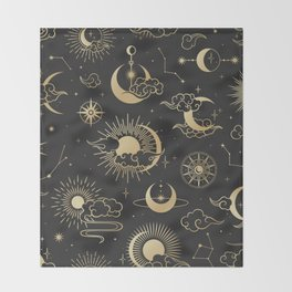 Astronomy Stars Throw Blanket