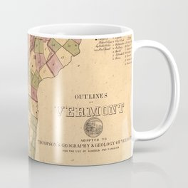 Vintage Map of Vermont (1848) Coffee Mug