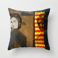 Coiffure for a young lady Throw Pillow