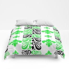 Fluer de Lis Custom Green Comforters