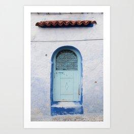 Doors - Chefchaouen V, The Blue City - Morocco Art Print