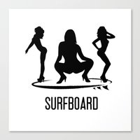 surfboard Canvas Prints featuring surfboard by August Riche