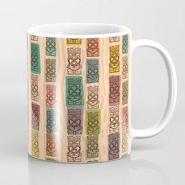 Atomic Tikis On Parade Pattern Coffee Mug
