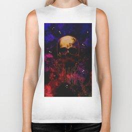 Cosmic Destiny Skull Illustration Biker Tank
