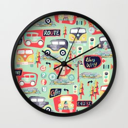 Travel Back in Time Wall Clock