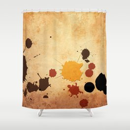 Abstract Indian Yellow Splash Shower Curtain