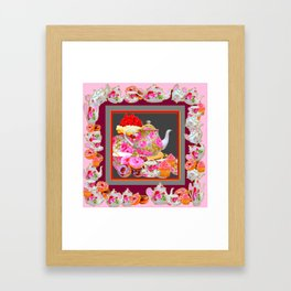 AFTERNOON TEA PARTY  & PASTRY  DESSERTS Framed Art Print