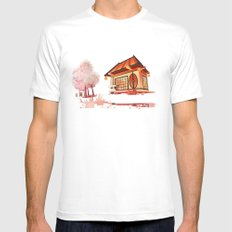 Imaginary landscape White Mens Fitted Tee MEDIUM