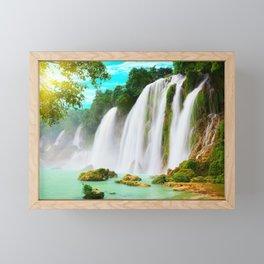 Detian Waterfall Framed Mini Art Print