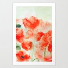 Flanders Poppies Art Print