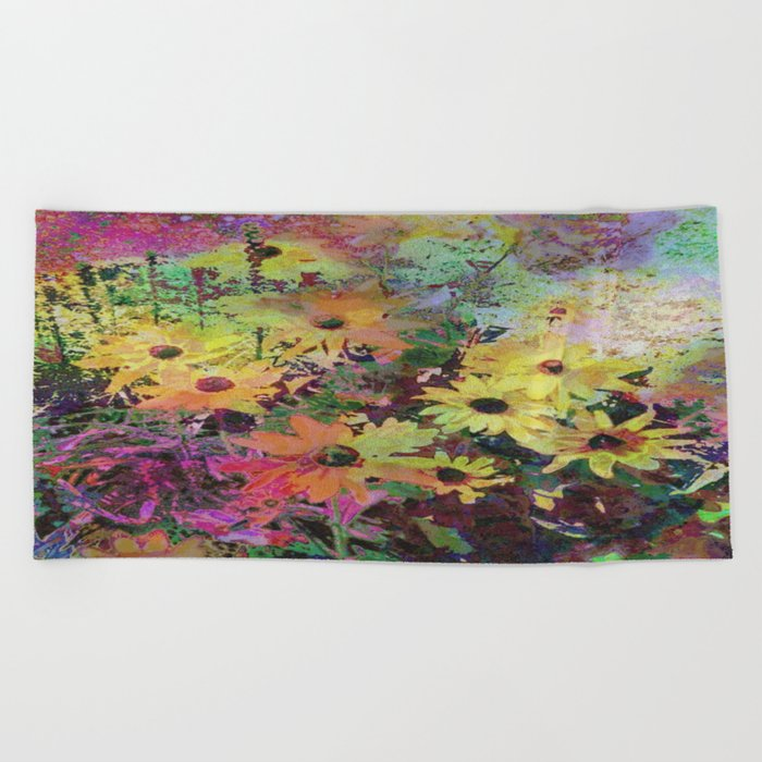 Gert's Watercolor Daisies Beach Towel