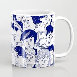 Faces People Blue Coffee Mug