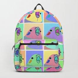 pop art cockatiel Backpack